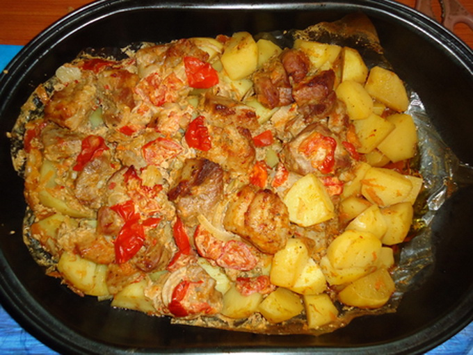 Мясо с картошкой в рукаве духовке рецепт