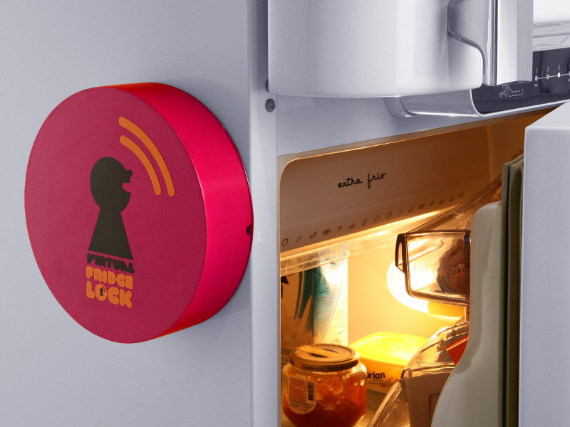 Холодильник с замком