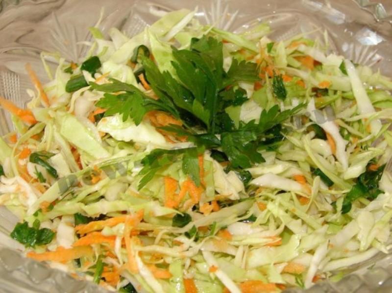 салат весенний рецепт с капустой