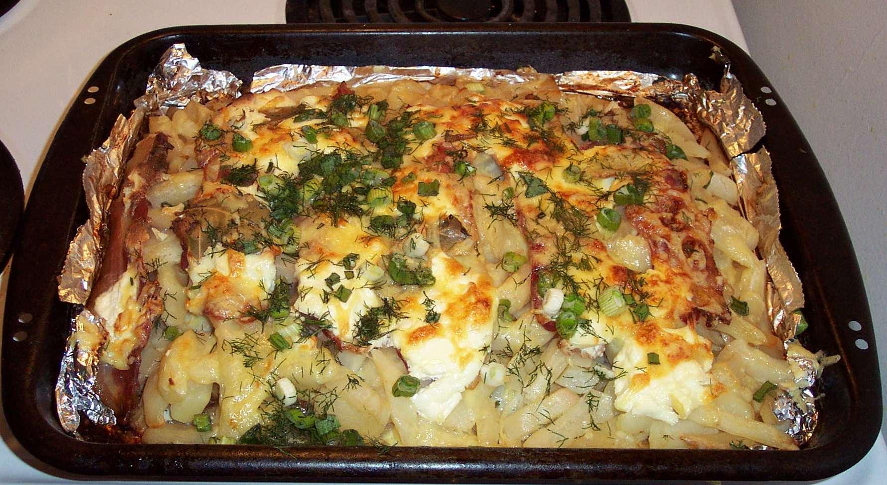 Приготовление картошки в духовке пошагово